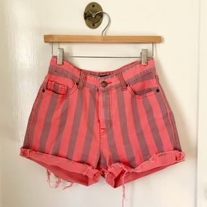 BDG high waist striped shorts